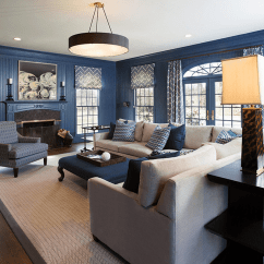 Blue Living Room With Dark Furniture Ashley Sectionals Ideas