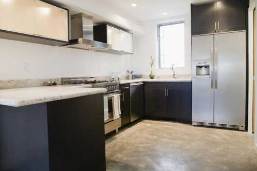 small resolution of modern domestic kitchen