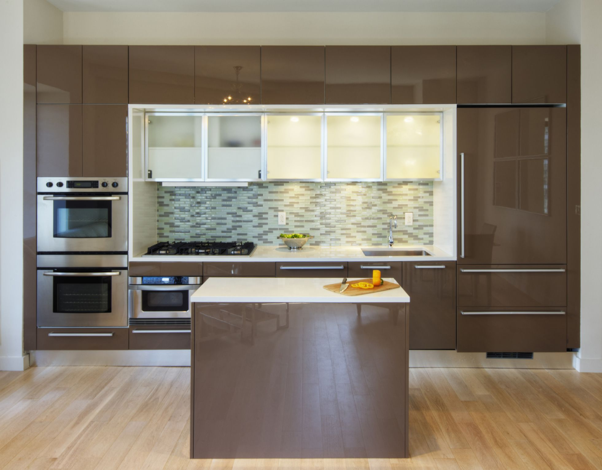 kitchen cabinet doors with glass fronts cream colored cabinets ways to fix space-wasting soffits