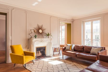 leather furniture living room decorating storage solutions 16 ways to decorate with french apartment warm colors burnt yellow