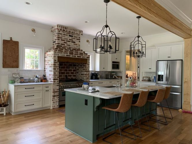 Sage Green Kitchen Cabinets With Black Appliances ...
