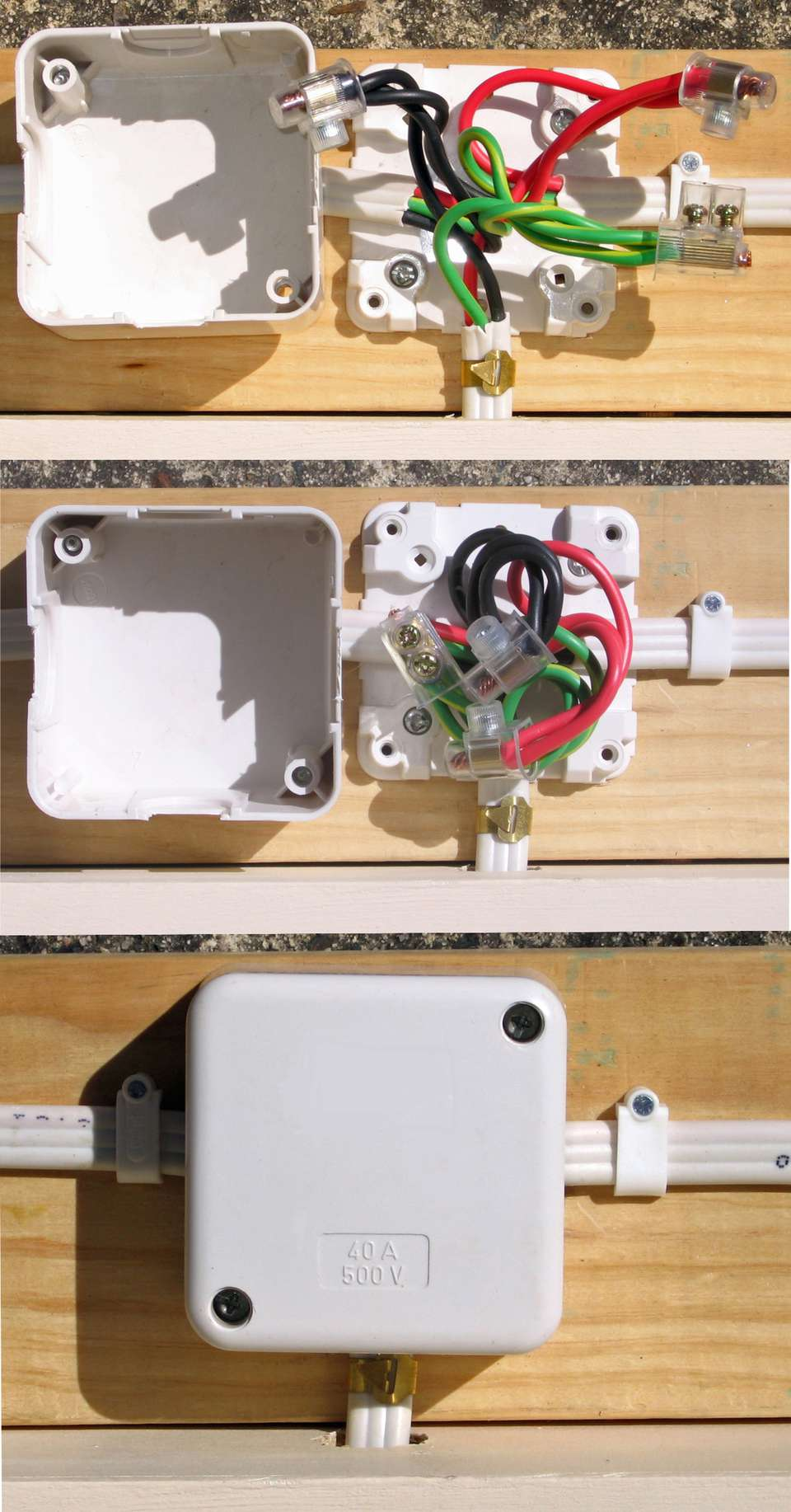 House Wiring Junction Box