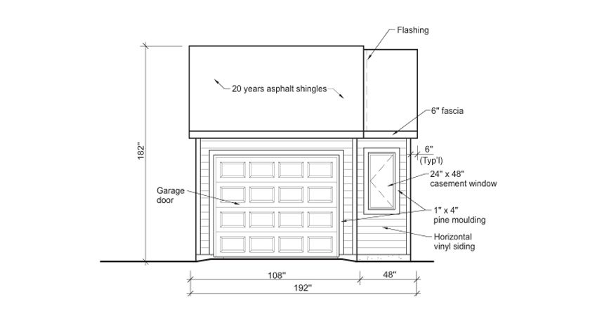garage dimensions diagram