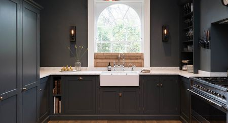 kitchen black cabinets trash can for 25 ideas with a beautiful view