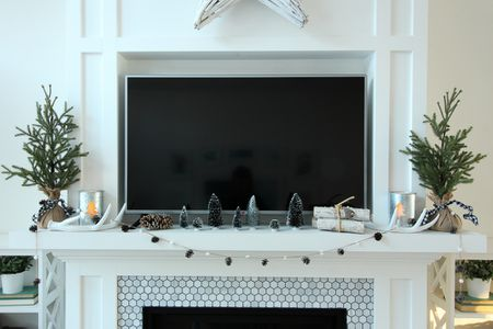 living room mantel decor leather furniture ideas 27 best winter decorating