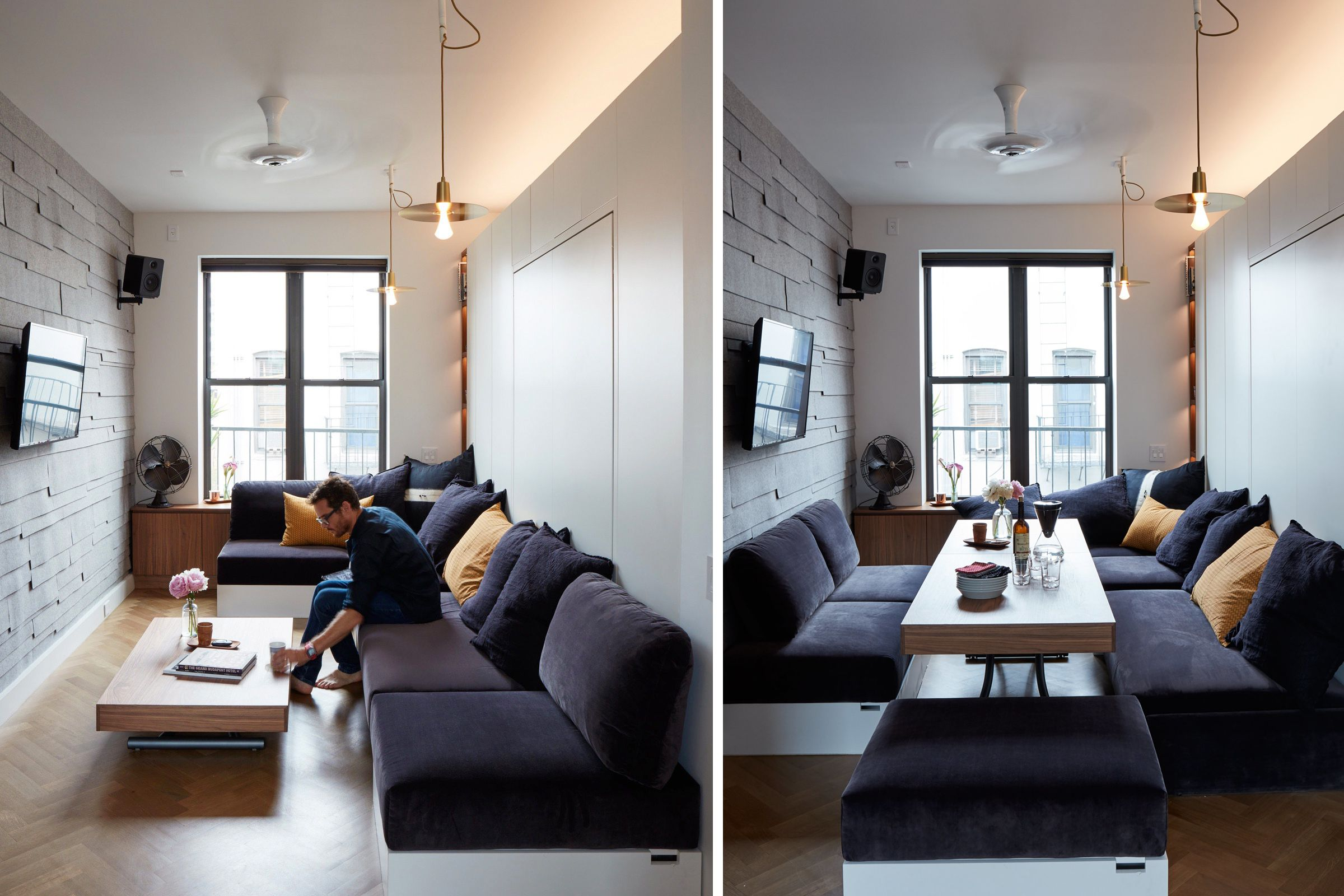 living rooms for small spaces curtain valances room 12 perfect studio apartment layouts that work