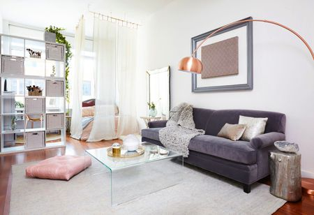 beautiful small apartment living rooms room set up with sectional 25 ways to create a bedroom in studio hero sheers