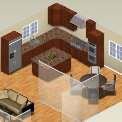 Kitchen Plans Floor Cabinets L Shaped Layouts Traditional Plan