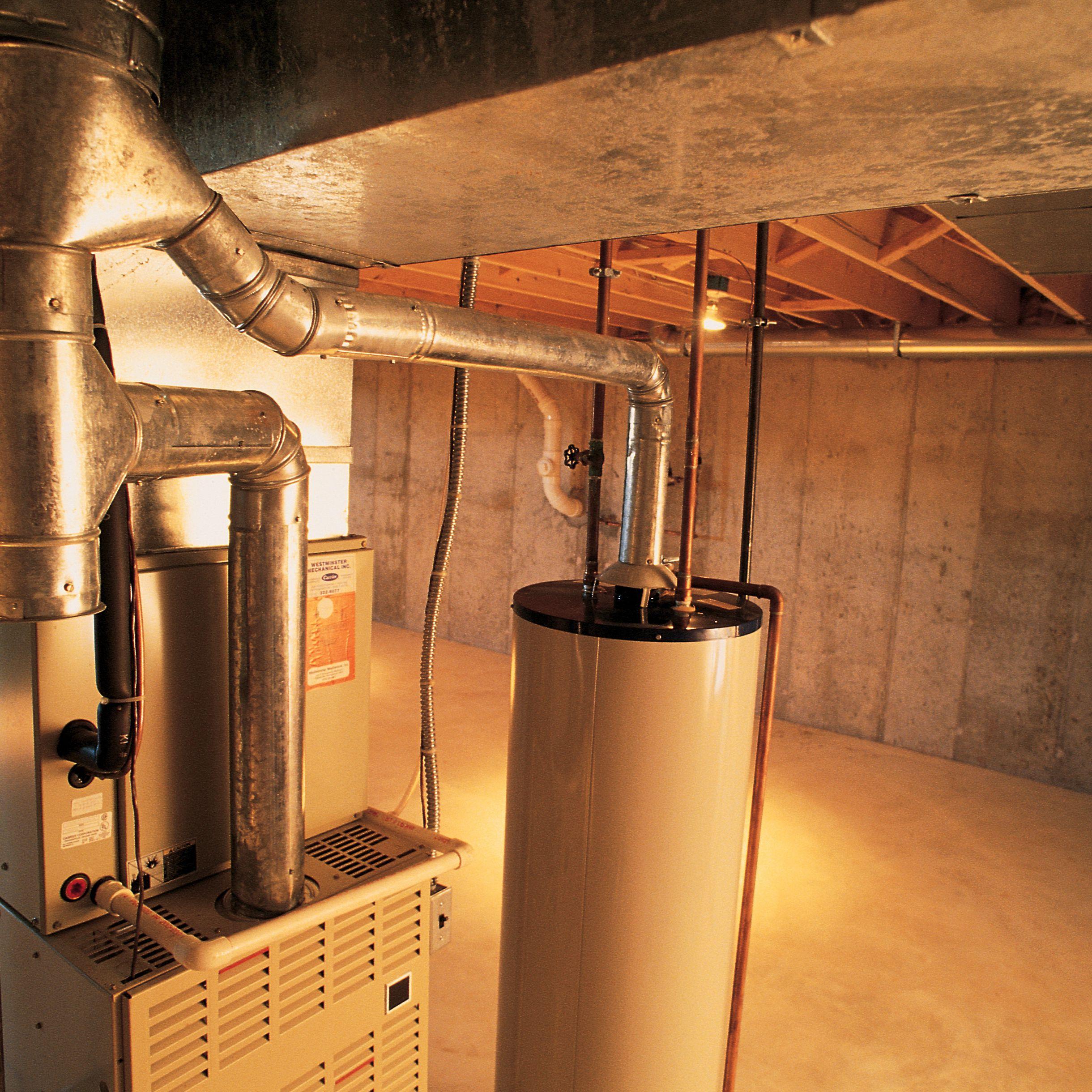 standing pilot light on a gas furnace