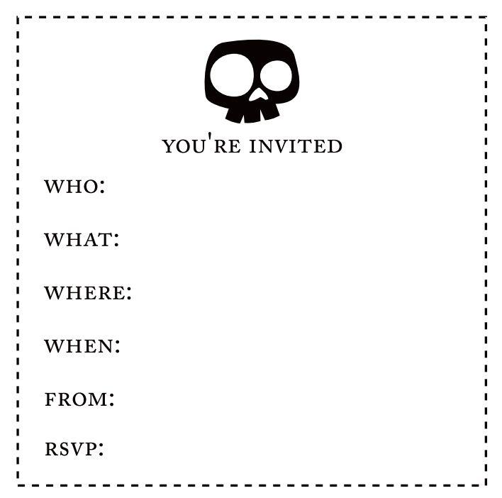 Free printable halloween sleepover invitations templates. 17 Free Halloween Invitations To Print