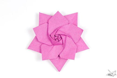 small resolution of 3d origami fox diagram