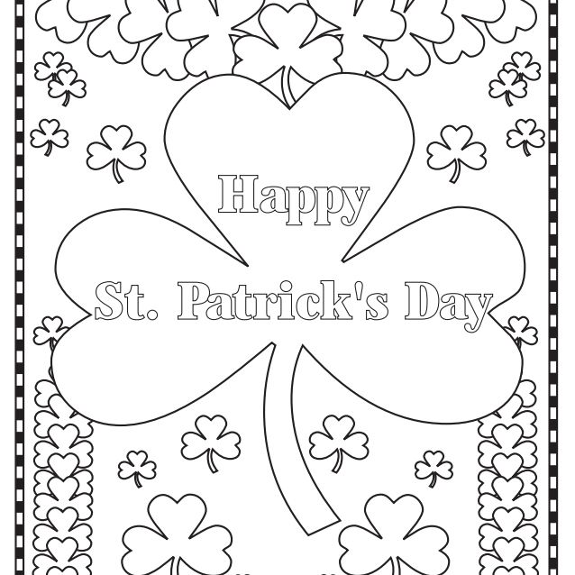 271 Free, Printable St. Patrick's Day Coloring Pages