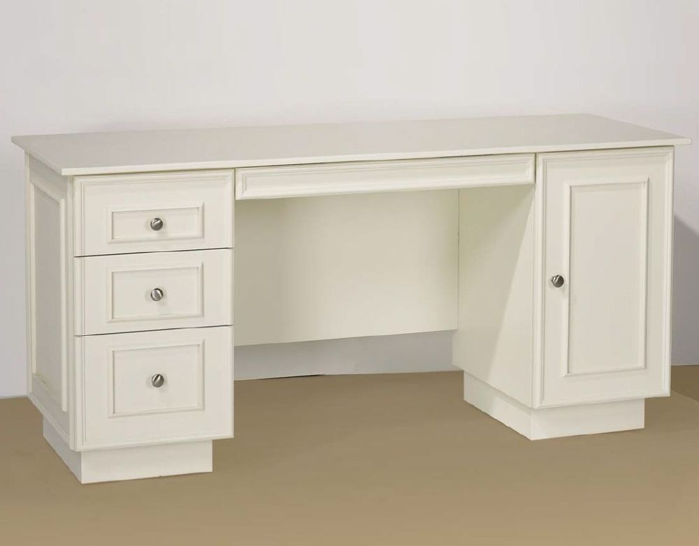 medium resolution of a photo of a white desk with drawers