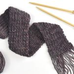 Knit A Simple Scarf With A Single Yarn Skein