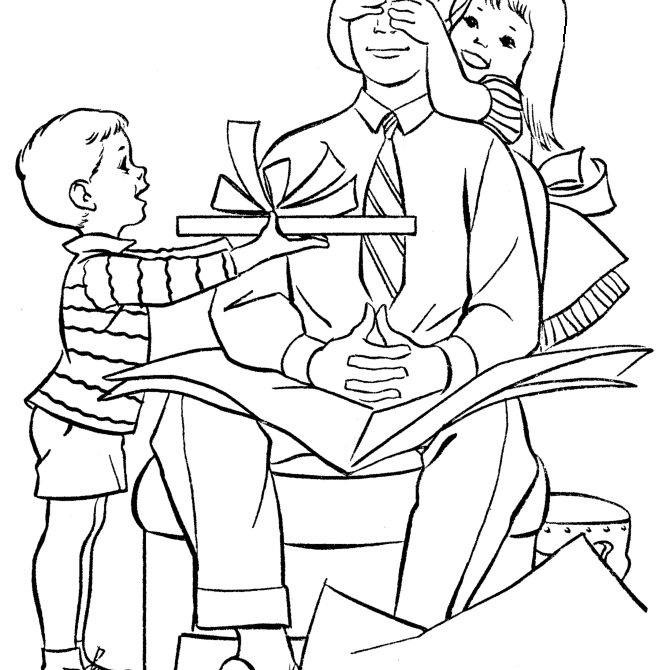 177 Free, Printable Father's Day Coloring Pages