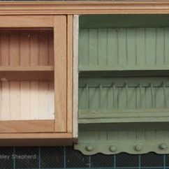 How To Make Kitchen Cabinets Wrought Iron Chairs Add Opening Glass Front A Dollhouse Miniature Fronted Upper Cabinet With Door For Scale