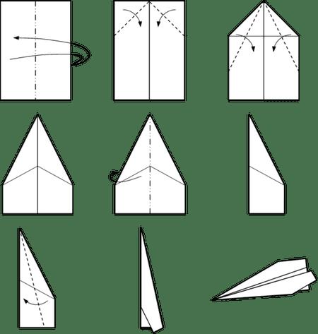 cool paper plane diagram 1971 toyota fj40 wiring making a classic dart airplane