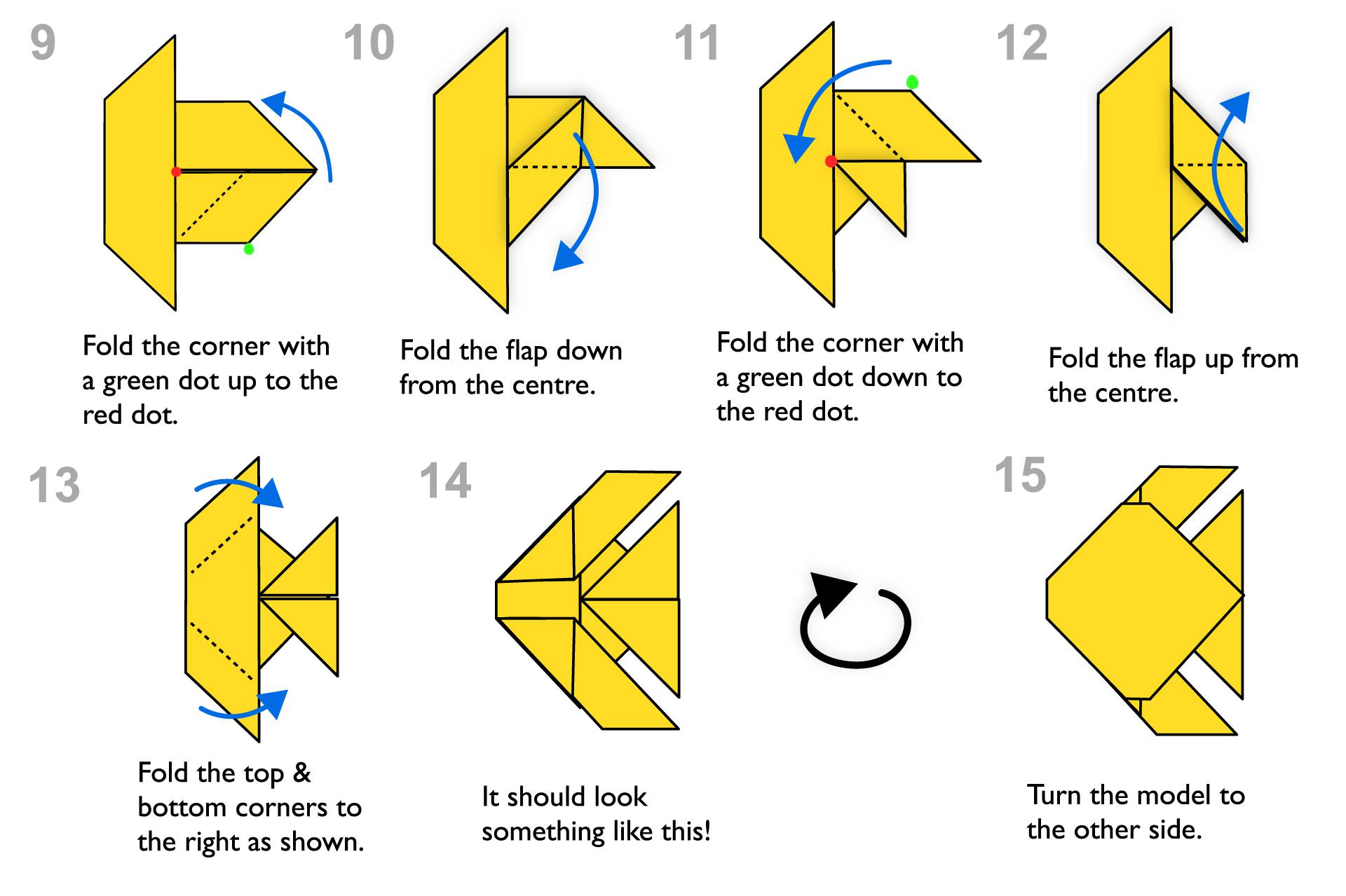 origami eagle instructions diagram 2001 jeep wrangler ignition wiring 84 43 steps for kids traditional fish