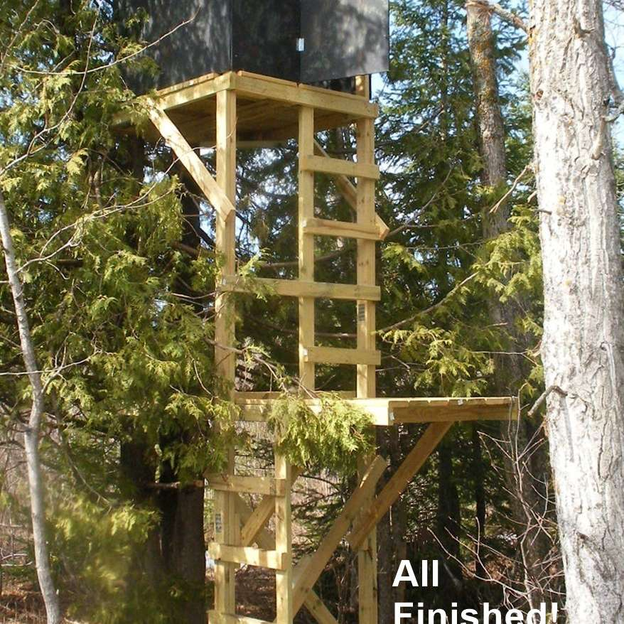 high chair deer stand revolving repairing in ahmedabad 11 free plans a variety of sizes two level built from plan