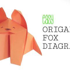 easy origami fox [ 1200 x 800 Pixel ]