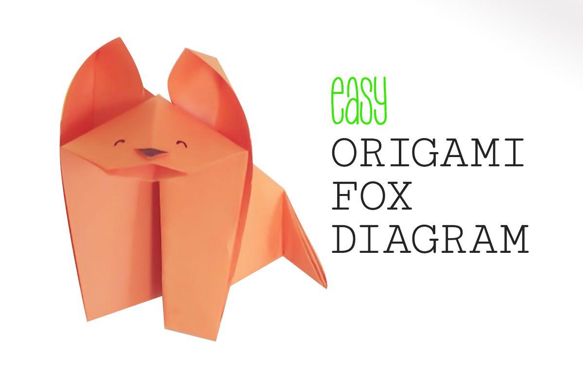 hight resolution of easy origami fox