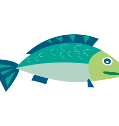 a blue and green illustrated fish [ 1920 x 1300 Pixel ]