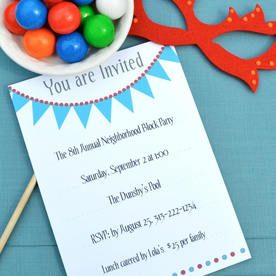 14 free printable birthday invitations