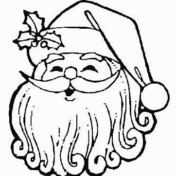 free santa coloring pages