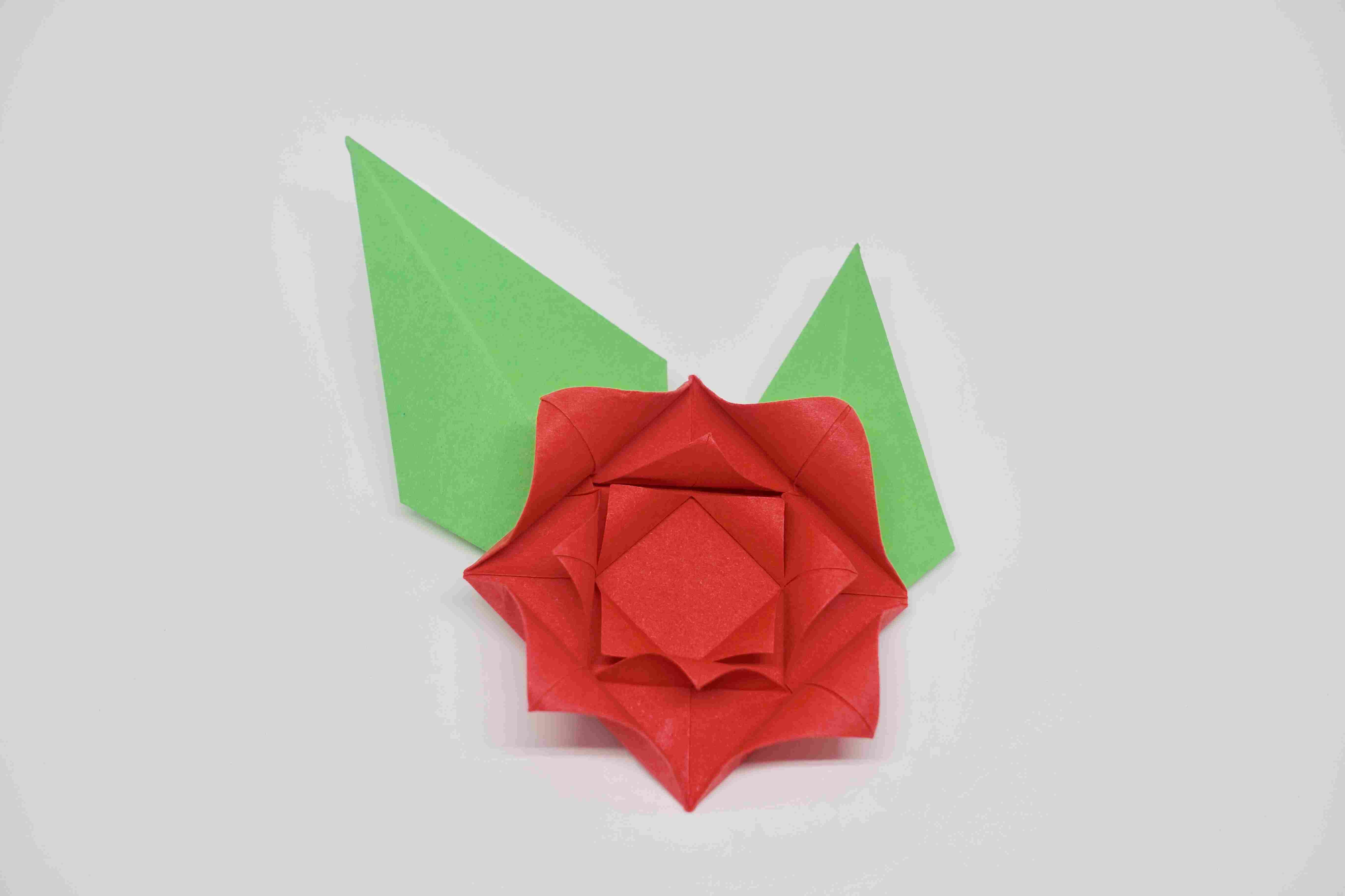 origami flower instruction diagram 2006 cobalt headlight wiring make an easy rose complete your