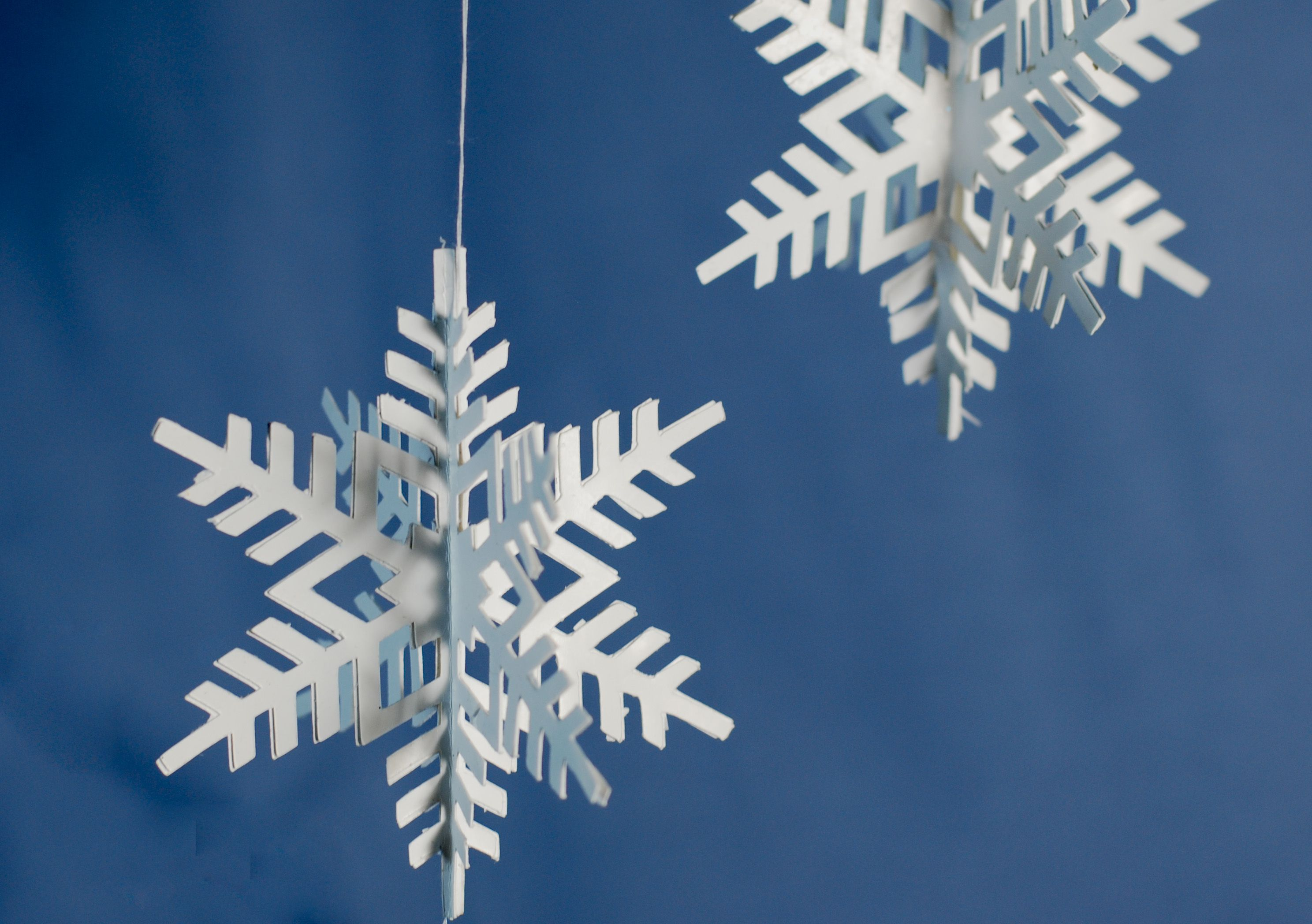How To Make 3d Paper Snowflake Ornaments