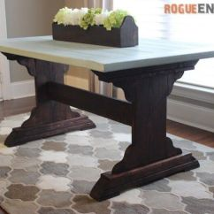 Diy Kitchen Tables Remodel Cost Estimator 13 Free Dining Room Table Plans For Your Home A With Flowers And Rug
