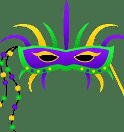 a colorful mardi gras mask clipart panda [ 6684 x 5806 Pixel ]