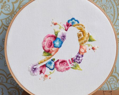 8 embroidery patterns and
