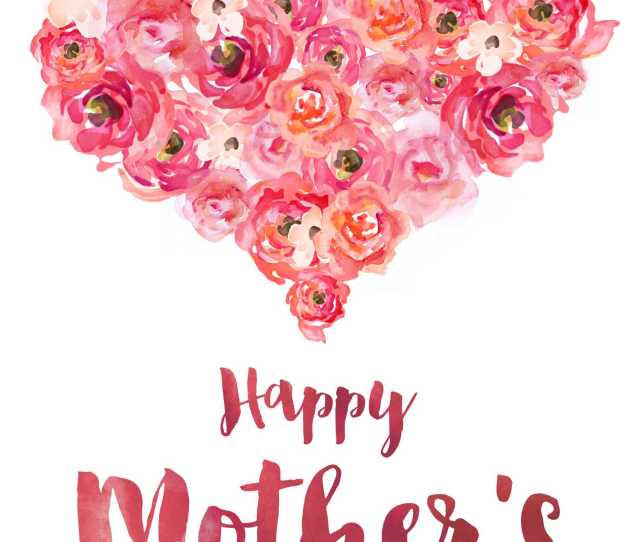 A Mothers Day Card With A Heart Made Of Roses On It