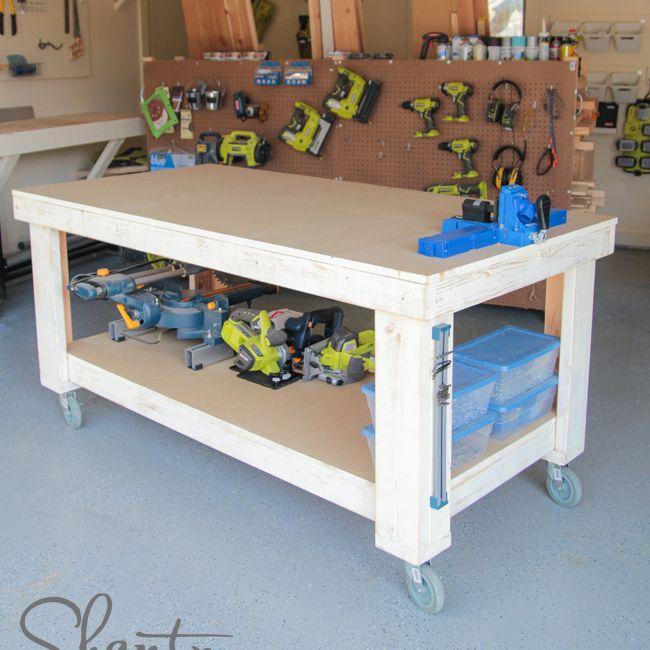 4×8 Workbench On Wheels