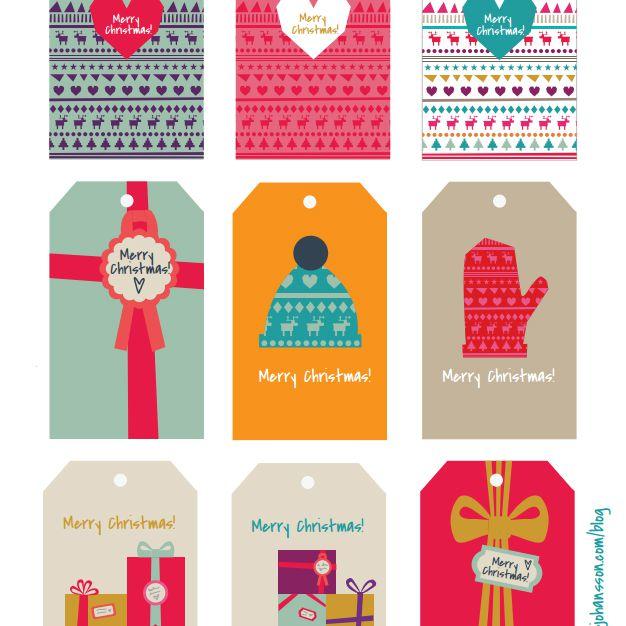 Sample Christmas Gift Tags