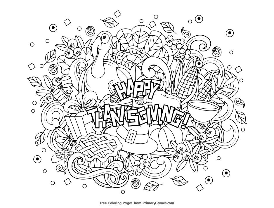 Free Thanksgiving Coloring Pages For Kids