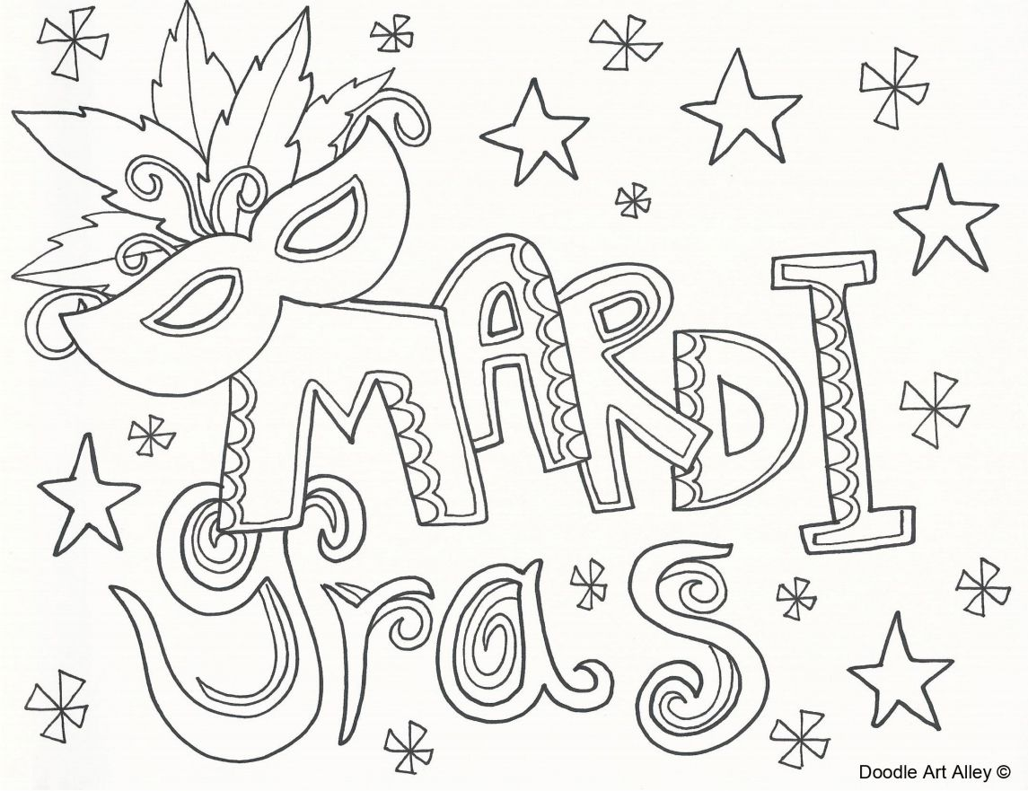 49 Free Printable Gras Coloring Pages