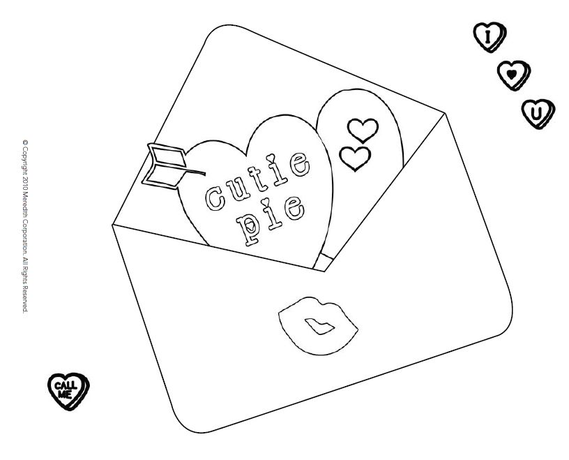 543 Free, Printable Valentine's Day Coloring Pages