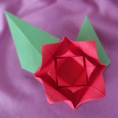 Origami Flower Diagram In English 2004 Mazda Tribute Fuse Make An Easy Rose
