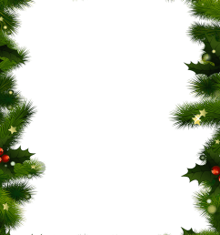 a christmas border with evergreen and berries  [ 2500 x 2500 Pixel ]