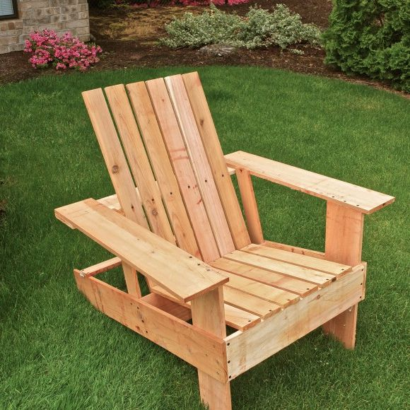 diy adirondack chair kit steel accent 19 free plans you can today an in the grass