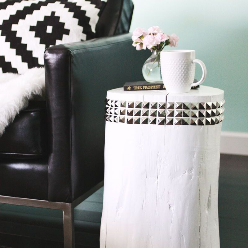 diy living room side tables wall paint colors 8 must try studded tree stump table