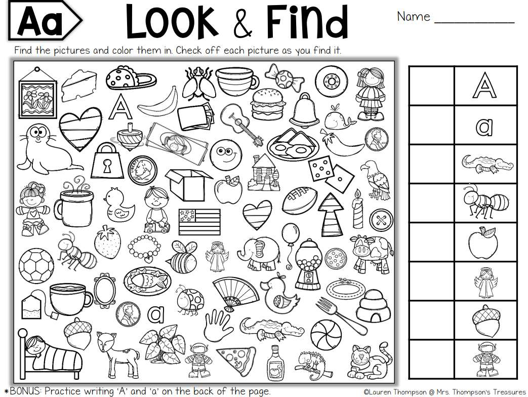Worksheet Find Items