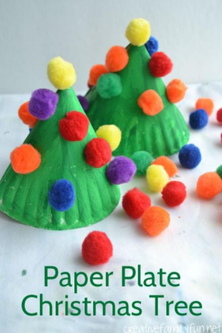 Christmas Tree Crafts Paper Plate
