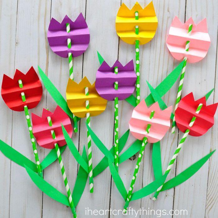 22 Flower Crafts For Kids
