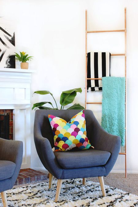diy living room ideas with wooden walls 50 for the copper blanket ladder