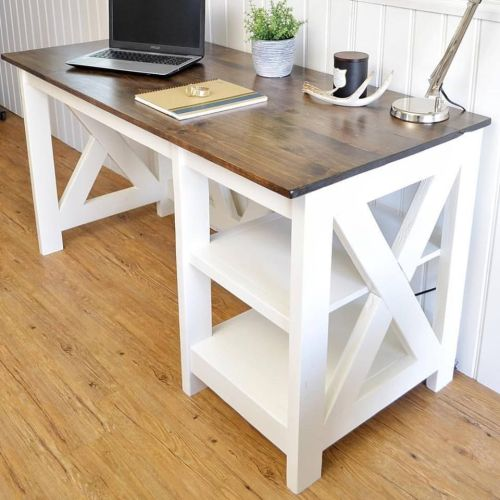 small resolution of a photo of a white wooden desk with a laptop on it