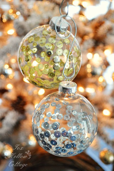 Decorating Glass Christmas Ornaments