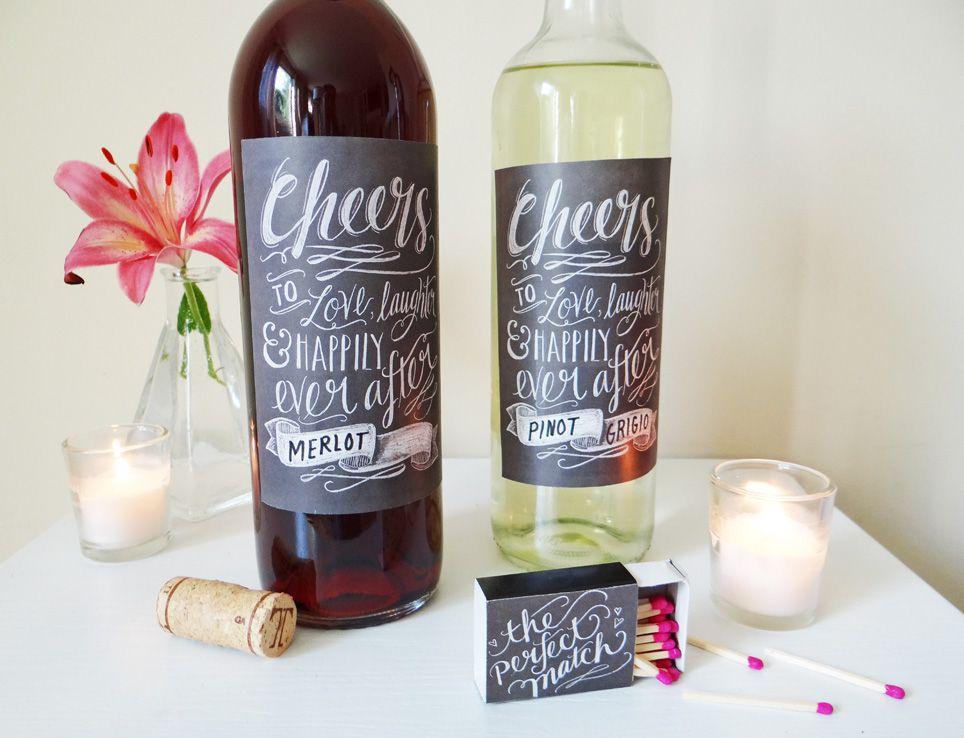 free diy wine label